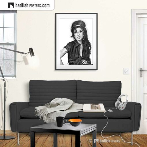 Amy Winehouse | Art Poster | Gallery Image | © BadFishPosters.com