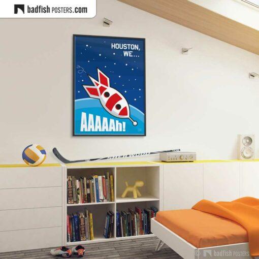 Apollo 13 | Houston, We... Aaaaah! | Comic Movie Poster | Gallery Image | © BadFishPosters.com
