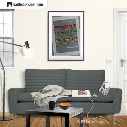 Back to the Future - Time Circuit | Movie Art Poster | Gallery Image | © BadFishPosters.com