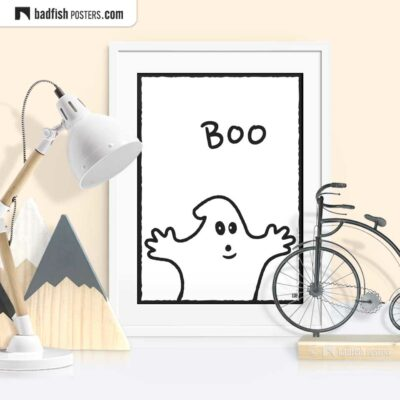 Boo - The Friendly Ghost | Graphic Poster | © BadFishPosters.com