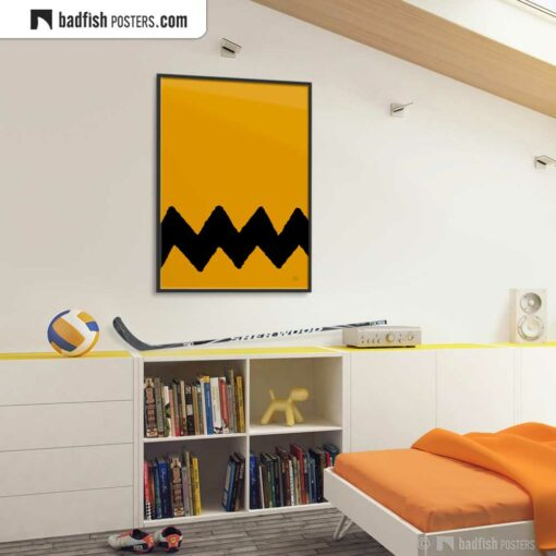 Charlie Brown | Graphic Poster | Gallery Image | © BadFishPosters.com