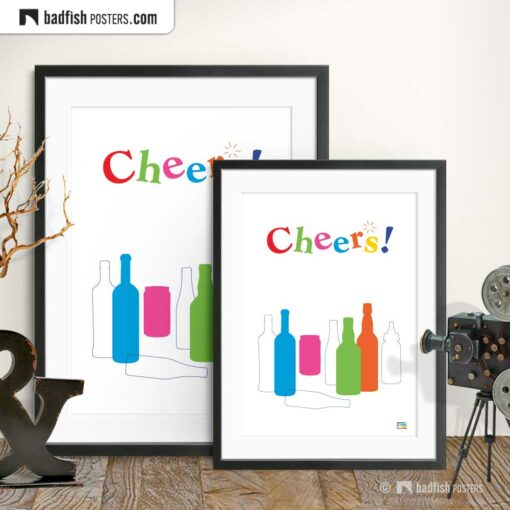 Cheers! | Graphic Poster | Gallery Image | © BadFishPosters.com