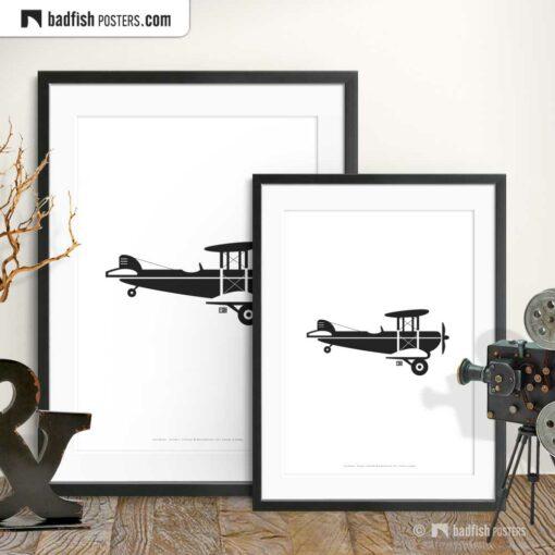 Crop Duster | Biplane | Minimal Poster | Gallery Image | © BadFishPosters.com