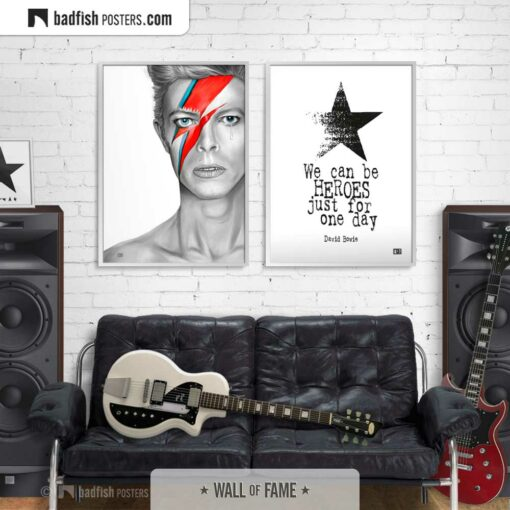 David Bowie | Aladdin Sane | Art Poster | Gallery Image | © BadFishPosters.com