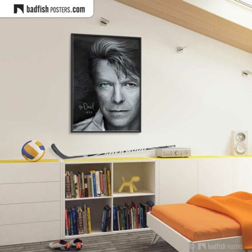 David Bowie | Tribute to David | Art Poster | Gallery Image | © BadFishPosters.com