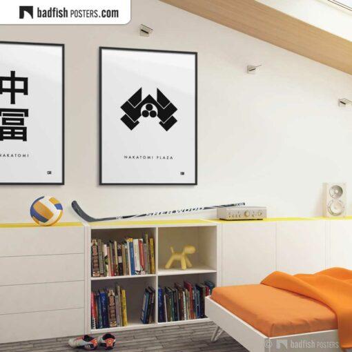Die Hard - Nakatomi Plaza | Minimal Movie Poster | Gallery Image | © BadFishPosters.com