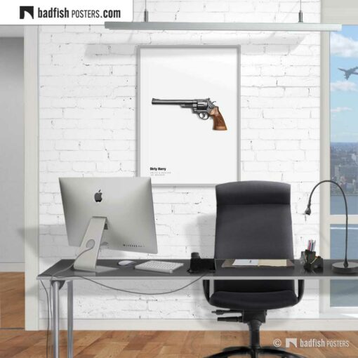 Dirty Harry - Magnum | Movie Art Poster | Gallery Image | © BadFishPosters.com