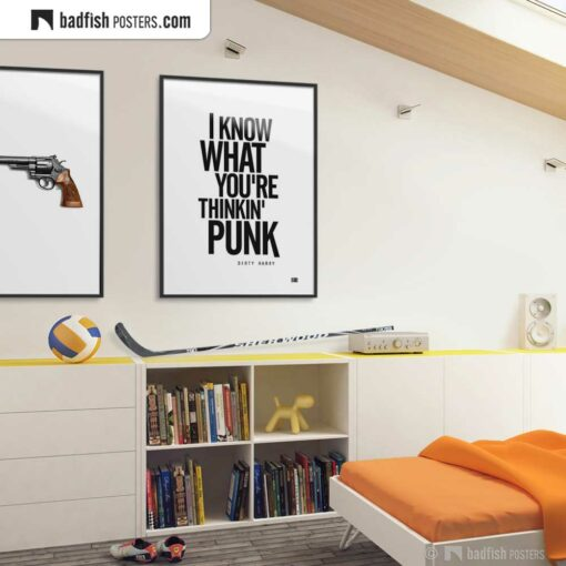 Dirty Harry - I Know What You're Thinkin' Punk | Typographic Movie Poster | Gallery Image | © BadFishPosters.com