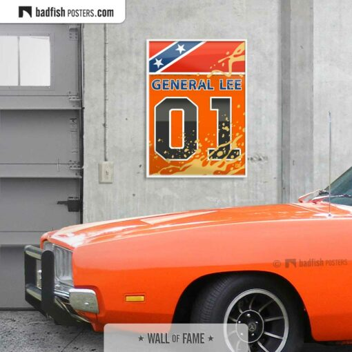 The Dukes of Hazzard - General Lee | Movie Art Poster | Gallery Image | © BadFishPosters.com