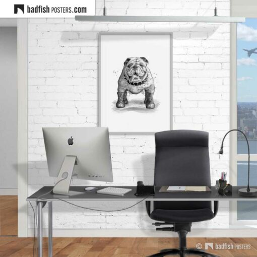 English Bulldog | Art Poster | Gallery Image | © BadFishPosters.com