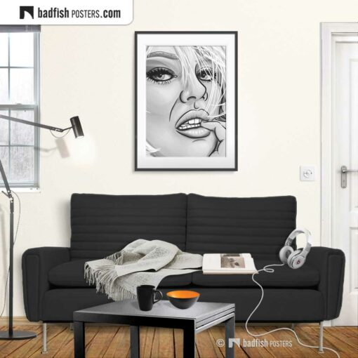 Faith b/w | Art Poster | Gallery Image | © BadFishPosters.com