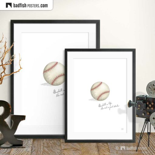 Field Of Dreams | Baseball Is Life | Movie Art Poster | Gallery Image | © BadFishPosters.com