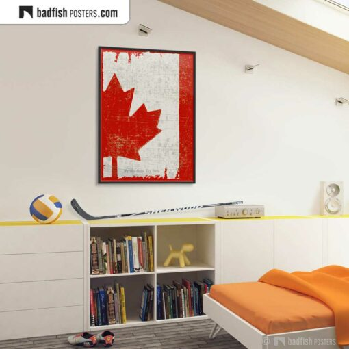 Flag Of Canada | Art Poster | Gallery Image | © BadFishPosters.com