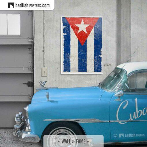 Flag Of Cuba | Art Poster | Gallery Image | © BadFishPosters.com
