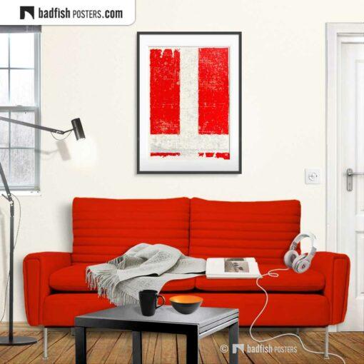 Flag Of Denmark | Art Poster | Gallery Image | © BadFishPosters.com