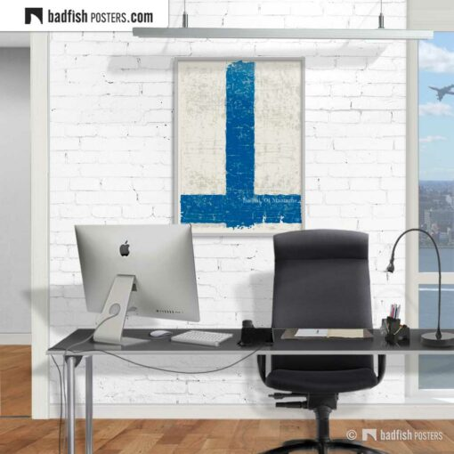 Flag Of Finland | Art Poster | Gallery Image | © BadFishPosters.com