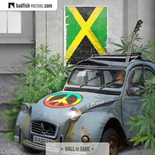 Flag Of Jamaica | Art Poster | Gallery Image | © BadFishPosters.com