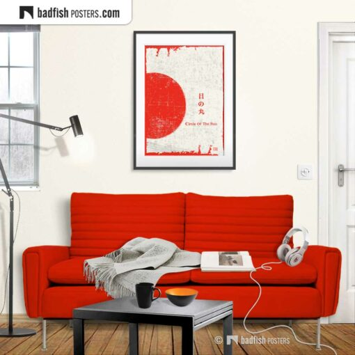 Flag Of Japan | Circle Of The Sun | Art Poster | Gallery Image | © BadFishPosters.com