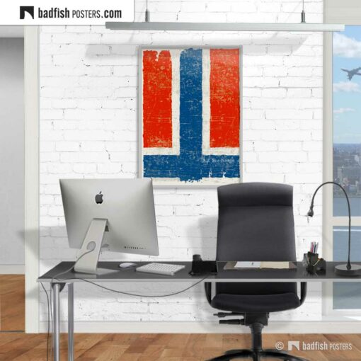 Flag Of Norway | Art Poster | Gallery Image | © BadFishPosters.com