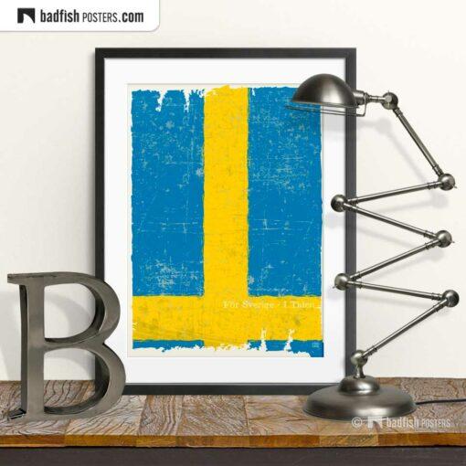 Flag Of Sweden | Art Poster | © BadFishPosters.com