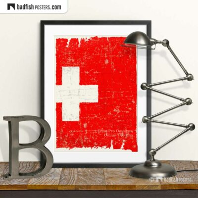 Flag Of Switzerland | Art Poster | © BadFishPosters.com