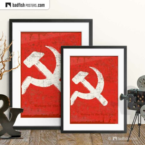Flag Of The Soviet Union | Art Poster | Gallery Image | © BadFishPosters.com