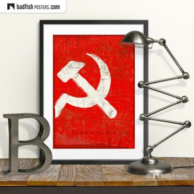 Flag Of The Soviet Union | Art Poster | © BadFishPosters.com