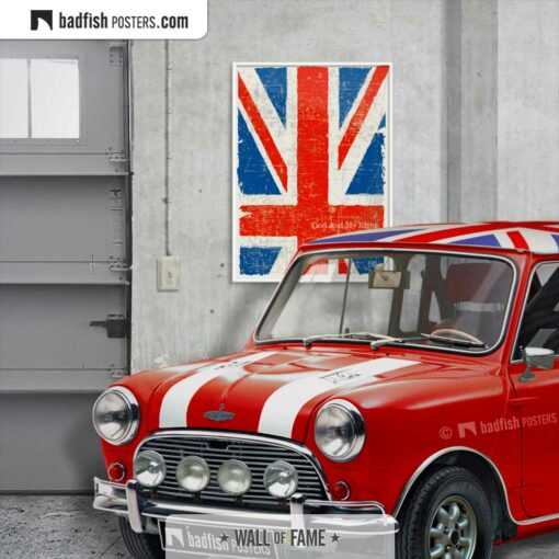 Flag Of The United Kingdom | Art Poster | Gallery Image | © BadFishPosters.com