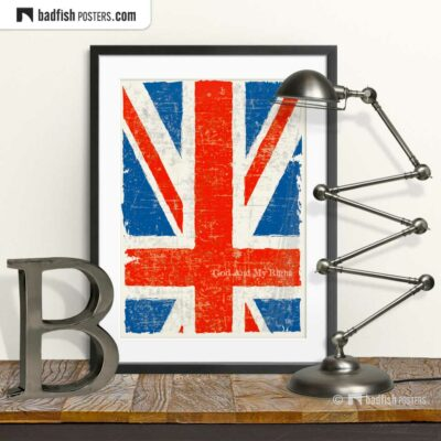 Flag Of The United Kingdom | Art Poster | © BadFishPosters.com