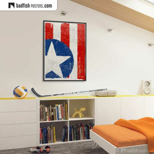 Flag Of The United States | Art Poster | Gallery Image | © BadFishPosters.com