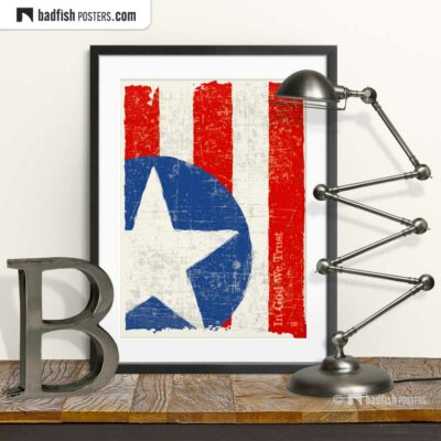 Flag Of The United States | Art Poster | © BadFishPosters.com