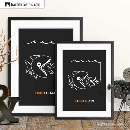 The Food Chain | Comic Style Poster | Gallery Image | © BadFishPosters.com