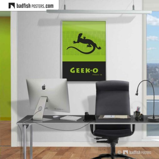 Geek-o | Graphic Poster | Gallery Image | © BadFishPosters.com