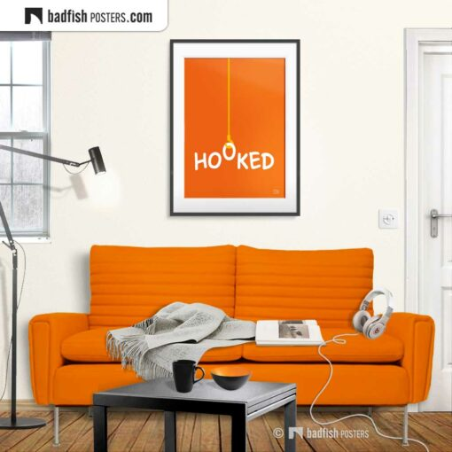 Hooked | Graphic Poster | Gallery Image | © BadFishPosters.com