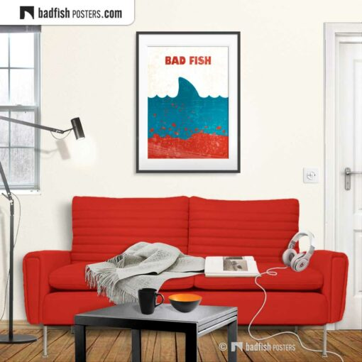 Jaws | Bad Fish | Movie Art Poster | Gallery Image | © BadFishPosters.com