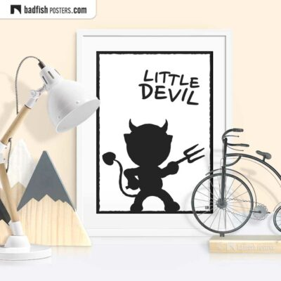 Little Devil | Graphic Poster | © BadFishPosters.com