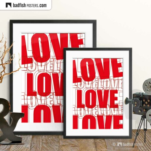 Love | Graphic Poster | Gallery Image | © BadFishPosters.com