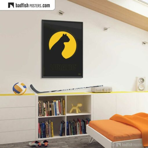 Lunatic | Graphic Poster | Gallery Image | © BadFishPosters.com