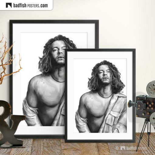 Michael Hutchence | INXS | Tribute to Michael | Art Poster | Gallery Image | © BadFishPosters.com