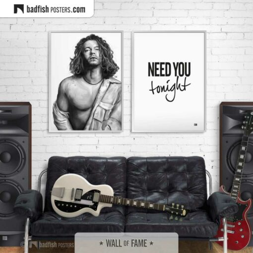 Michael Hutchence   INXS   Tribute to Michael   Art Poster   Gallery Image   © BadFishPosters.com