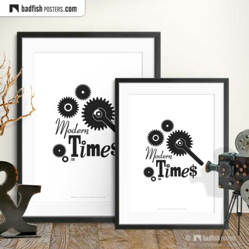 Modern Times   Minimal Movie Poster   Gallery Image   © BadFishPosters.com