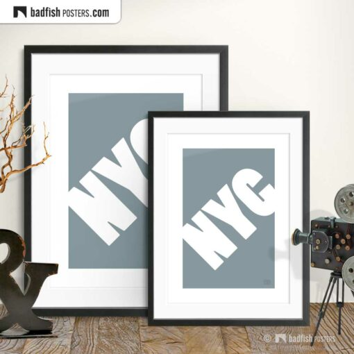NYC | New York City | Graphic Poster | Gallery Image | © BadFishPosters.com