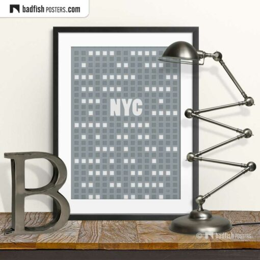 NYC | New York City | Empire State | Graphic Poster | © BadFishPosters.com