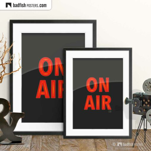 On Air | Graphic Poster | Gallery Image | © BadFishPosters.com