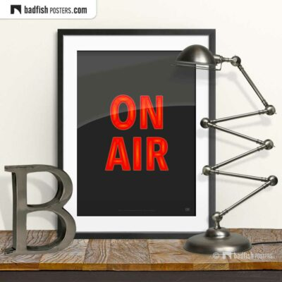 On Air | Graphic Poster | © BadFishPosters.com