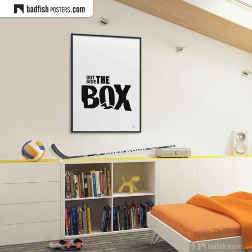 Outside The Box | Typographic Poster | Gallery Image | © BadFishPosters.com
