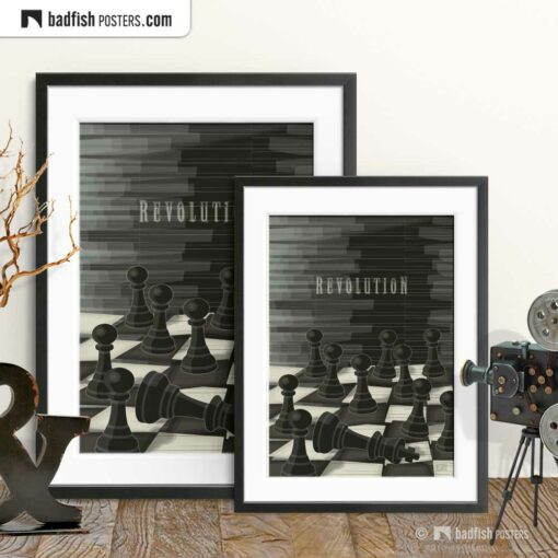 Revolution | Chess | Art Poster | Gallery Image | © BadFishPosters.com