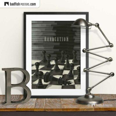 Revolution | Chess | Art Poster | © BadFishPosters.com