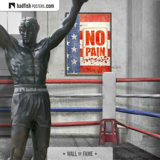 Rocky | No Pain | Movie Art Poster | Gallery Image | © BadFishPosters.com