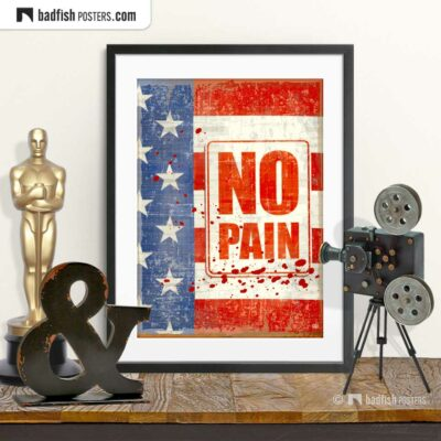 Rocky | No Pain | Movie Art Poster | © BadFishPosters.com